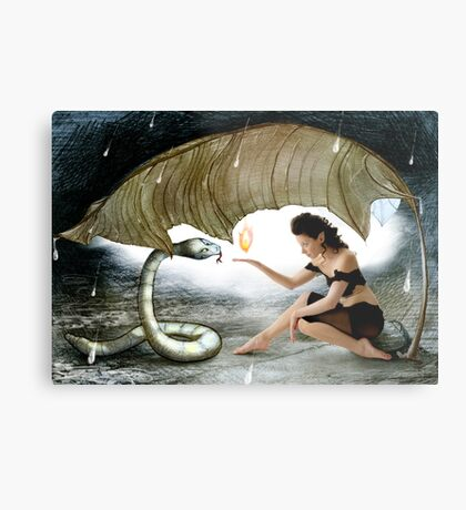 The Elf and the Snake Metal Print