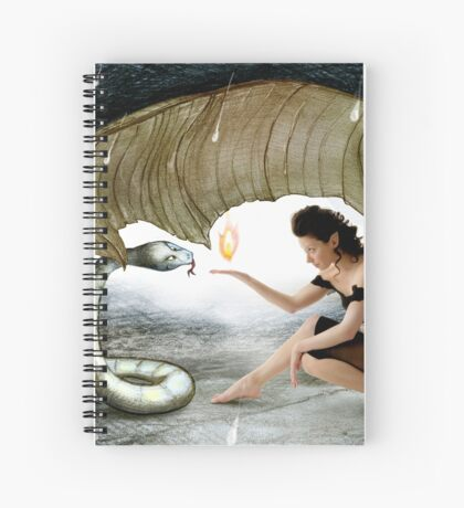 The Elf and the Snake Spiral Notebook
