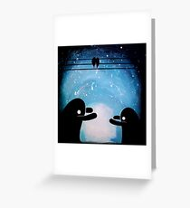 Monster cuddles Greeting Card
