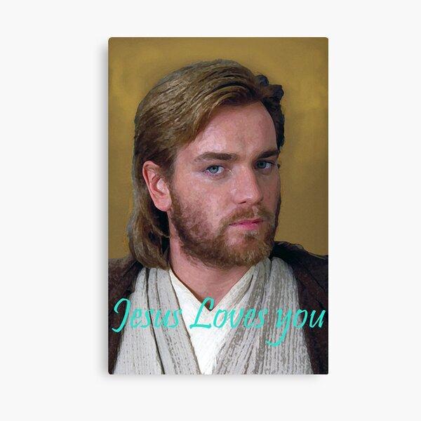 Space Jesus Loves (Ewan McGregor) Lienzo