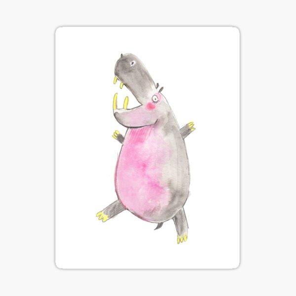Happy Hippo Sticker