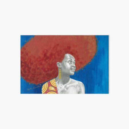 Afro Halo Orange and Blue Art Board Print