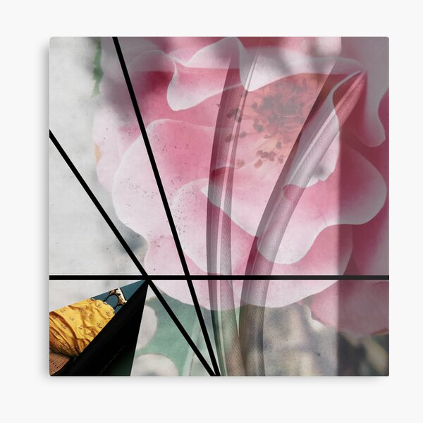 Abstract floral, digital collage, geometrical art Metal Print