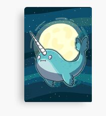 Space Narwhal Canvas Print