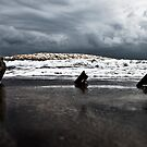 Brewing storm over the ocean by jordancantelo