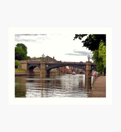 Skeldergate Bridge - York. Art Print