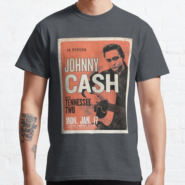 Johnny Cash & His Tennessee Two Vintage Concert Poster Classic T-Shirt