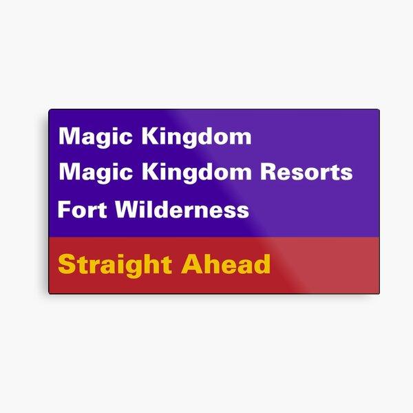 Happiest Street Sign Magic Kingdom Metal Print