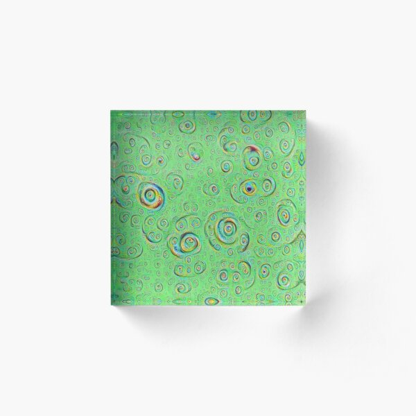 DeepDream Green Full 4K Acrylic Block