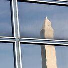 Reflection Of Washington Monument by David Piszczek