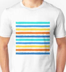 Brush Strokes Colorful Seamless Pattern Unisex T-Shirt