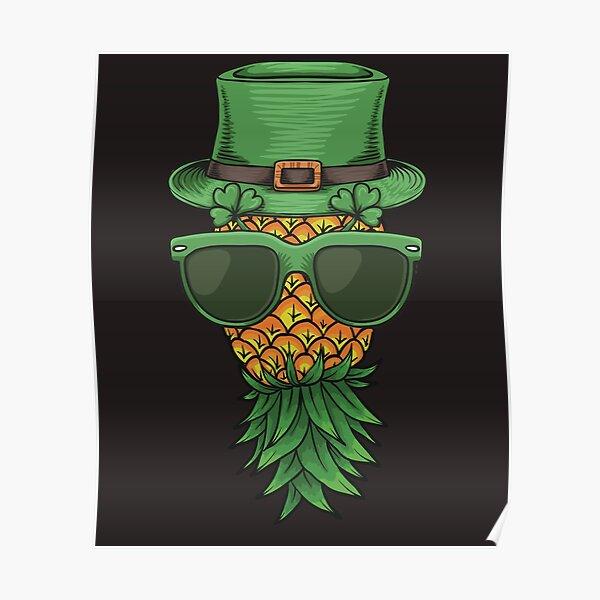 Swinger Upside Down Pineapple St Patricks Poster
