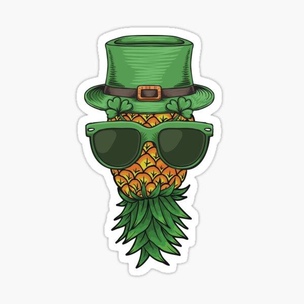 Swinger Upside Down Pineapple St Patricks Sticker