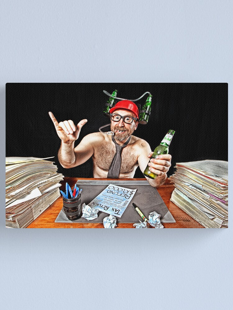 Alternate view of Mr July - TAX WHIZZ!! Canvas Print