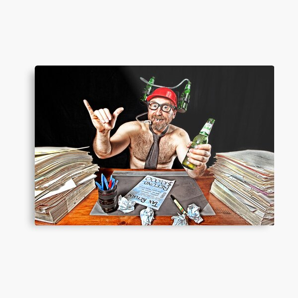 Mr July - TAX WHIZZ!! Metal Print