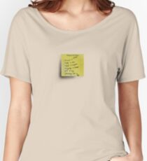 Post-it Note Tee Women's Relaxed Fit T-Shirt