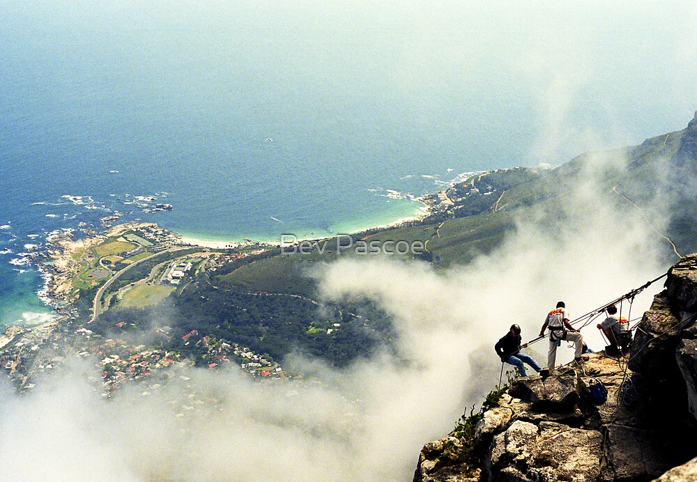 Abseiling on Table Mountain  - Capetown by Bev Pascoe