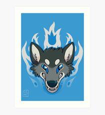 Fiery Wolf Art Print