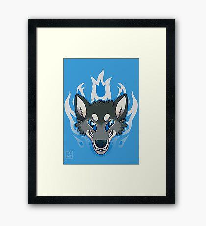 Fiery Wolf Framed Print