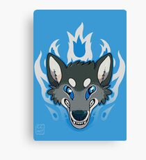 Fiery Wolf Canvas Print