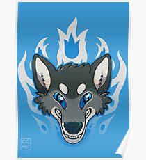 Fiery Wolf Poster