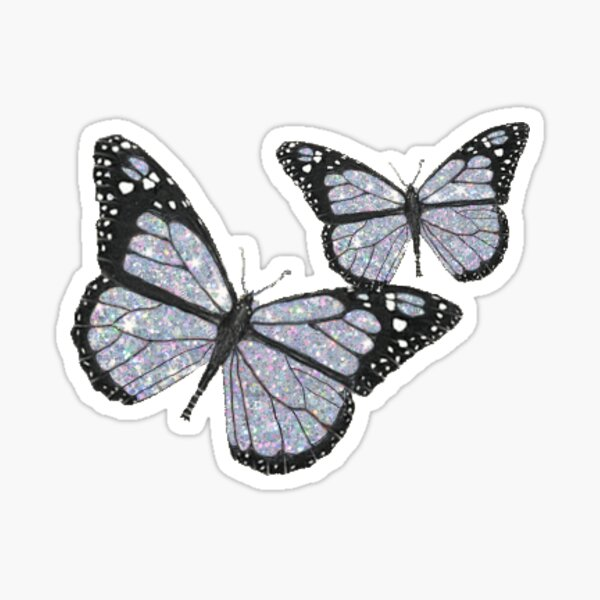 GLITTER BUTTERFLY Sticker