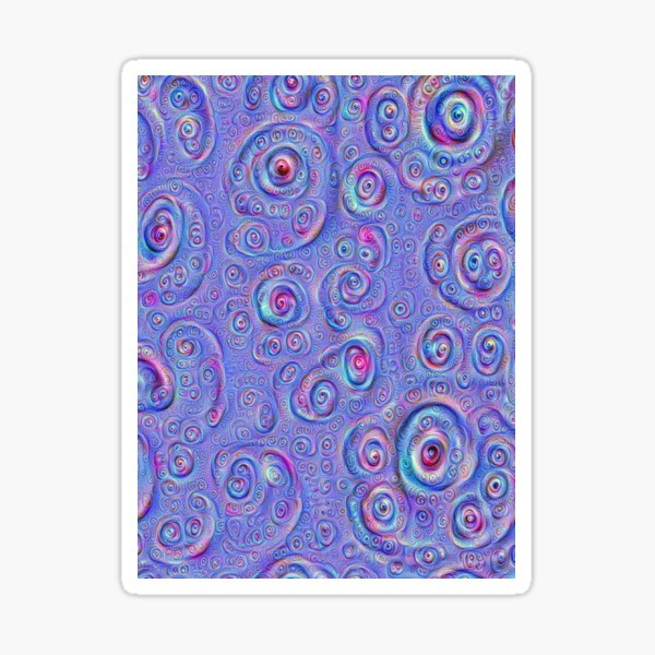 DeepDream Blue Full 4K Sticker