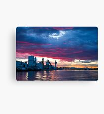 Sunset over Docklands Canvas Print