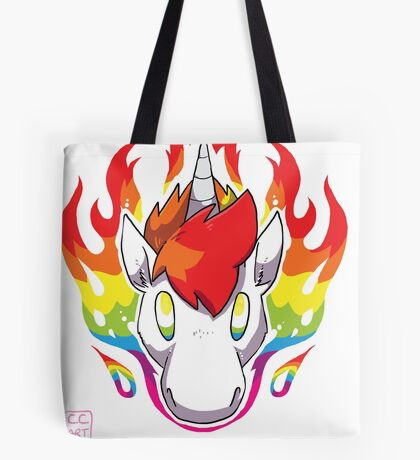 Rainbow Flames Tote Bag