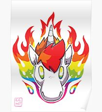 Rainbow Flames Poster