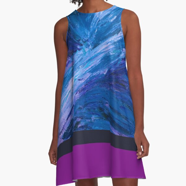 Apex, Abstract Landscape Art by Courtney Hatcher A-Line Dress