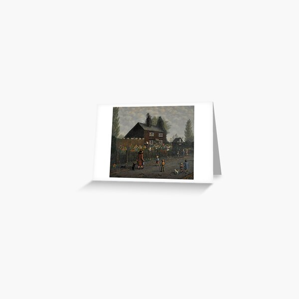 """""""Maggies cottage"""" by Clarice Hall Pomfret Greeting Card"""