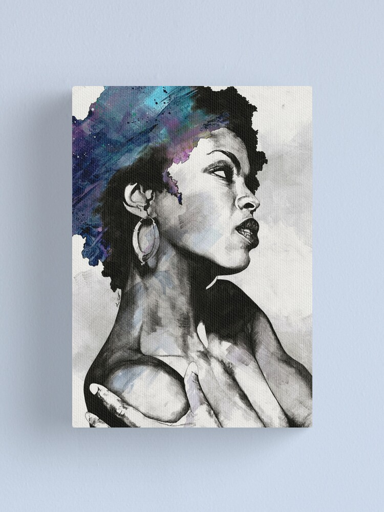Alternate view of Miseducation blue | Lauryn Hill tribute portrait Canvas Print