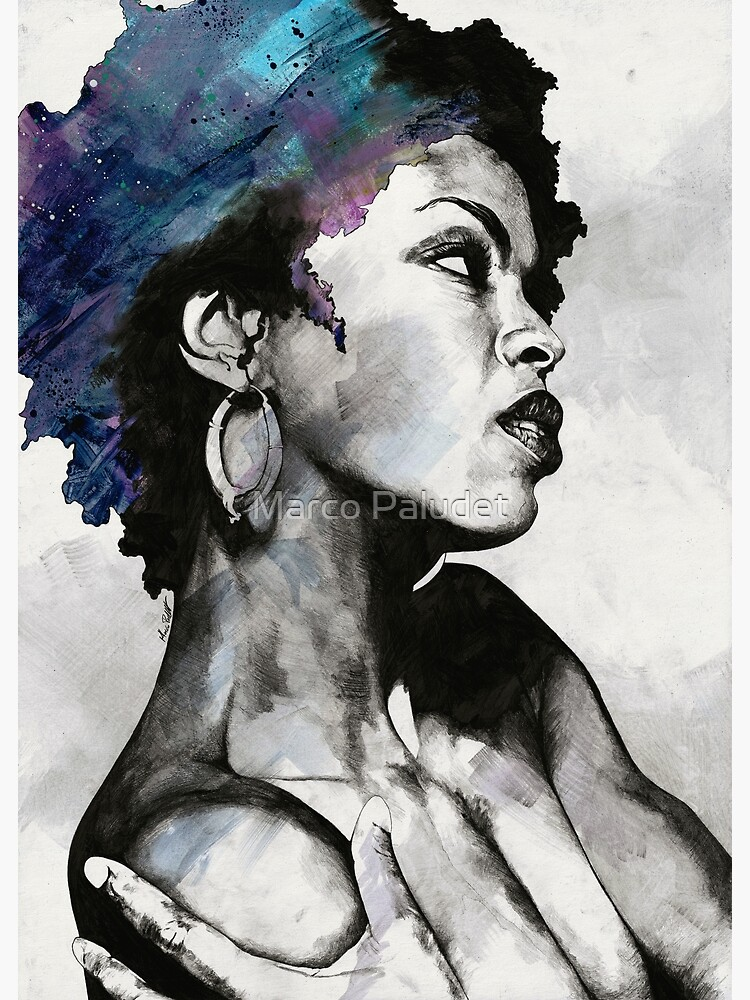 Miseducation blue | Lauryn Hill tribute portrait by kiss-my-art