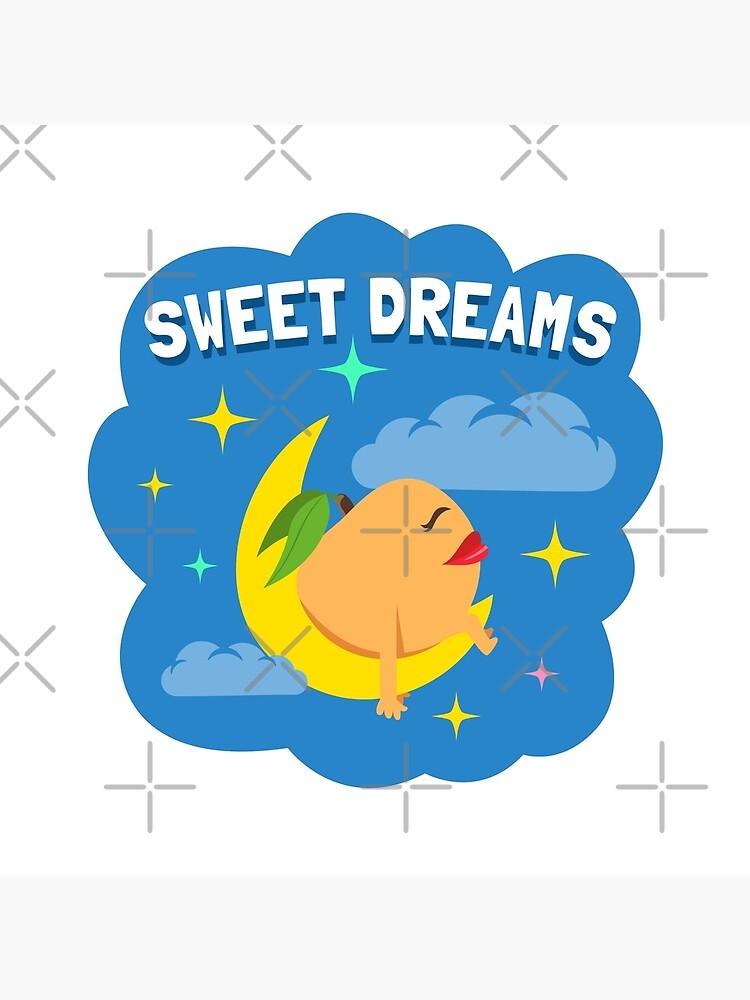 Sweet Dreams Peach Emoji JoyPixels Good Night Cartoon by el-patron