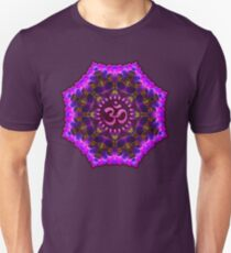 Pink Purple Aum Om Geometry Unisex T-Shirt