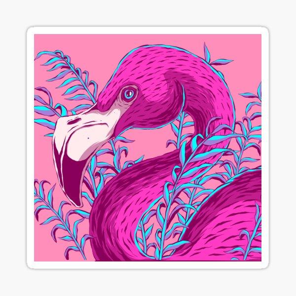 Tropical Flamingo Sticker