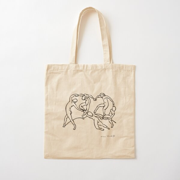 Henri Matisse The Dance and Music Line Artwork Hermitage Sketch For Prints Tshirts Posters Bags Men Women Youth Cotton Tote Bag