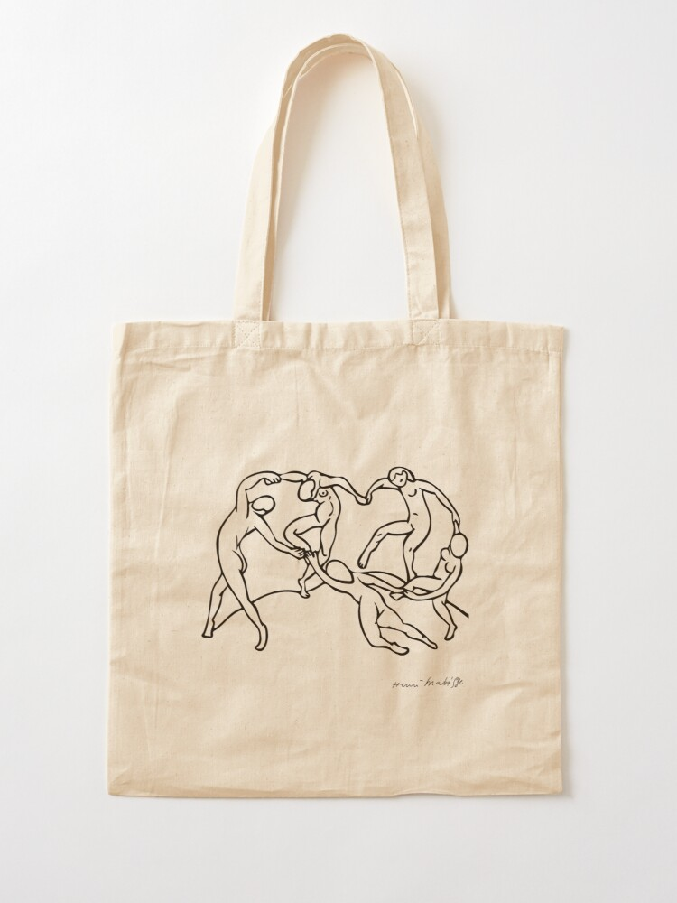 Alternate view of Henri Matisse The Dance and Music Line Artwork Hermitage Sketch For Prints Tshirts Posters Bags Men Women Youth Tote Bag