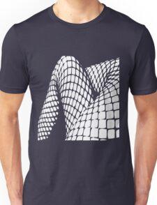 Fishnet legs (white print) Unisex T-Shirt
