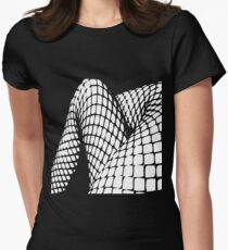 Fishnet legs (white print) Womens Fitted T-Shirt