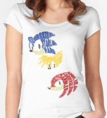 Sonic, Tails & Knuckles Women's Fitted Scoop T-Shirt