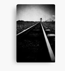 Balancing the rail Canvas Print