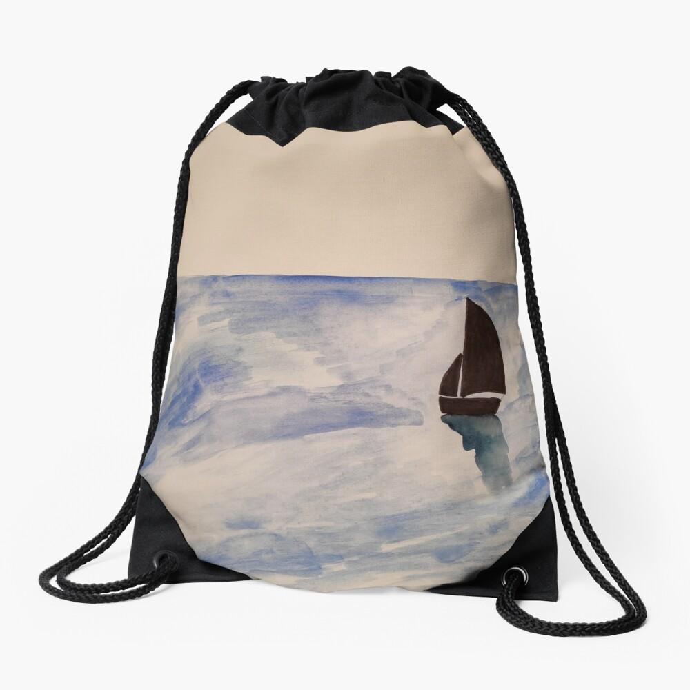 Sailing boat Drawstring Bag