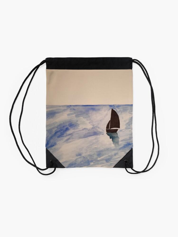 Alternate view of Sailing boat Drawstring Bag