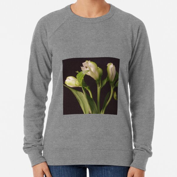 White Flower Closeup 2 Lightweight Sweatshirt