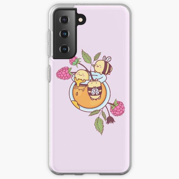 Happy Bees in a Honey Jar Samsung Galaxy Soft Case