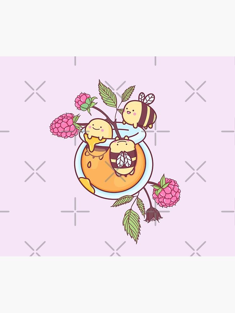 Happy Bees in a Honey Jar by MissGiuliana