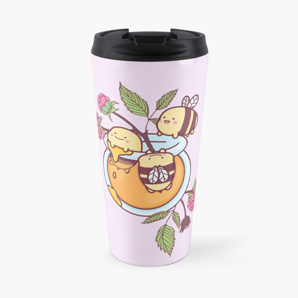 Happy Bees in a Honey Jar Travel Mug