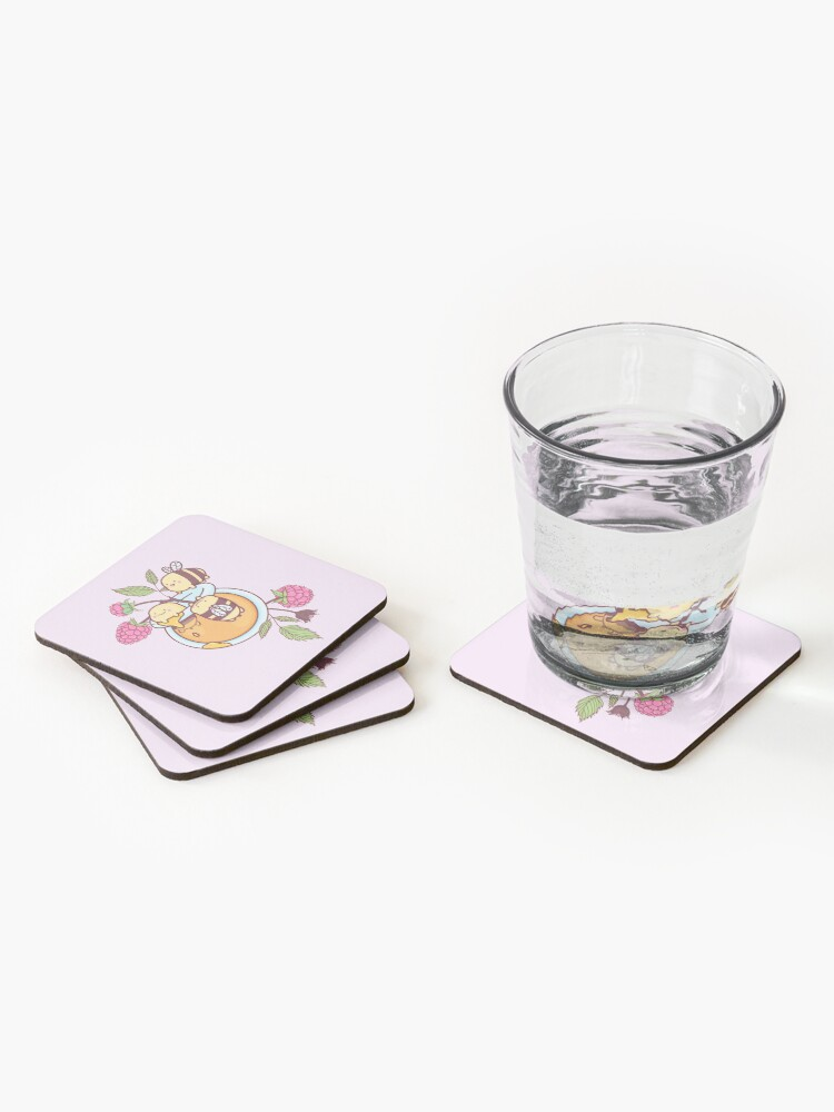 Alternate view of Happy Bees Coasters (Set of 4)